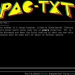 Текстовый PacMan