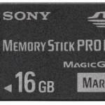 Sony выпустит 16GB Memory Stick PRO Duo в Японии