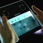 Grippity: планшет с полупрозрачным дисплеем