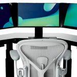 Высокотехнологичный умный стол SmartDesk с тремя дисплеями и сканером